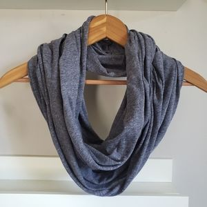 Accessories - Grey/blue Circle Infinity Scarf